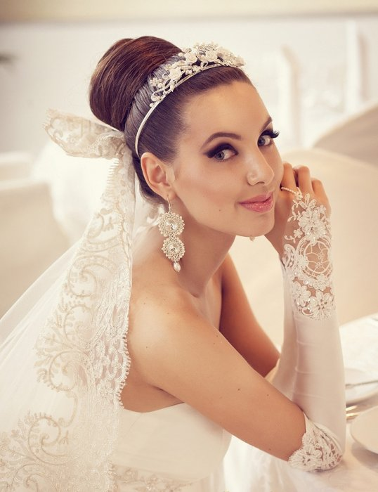 Свадебная бижутерия для невесты с платьем