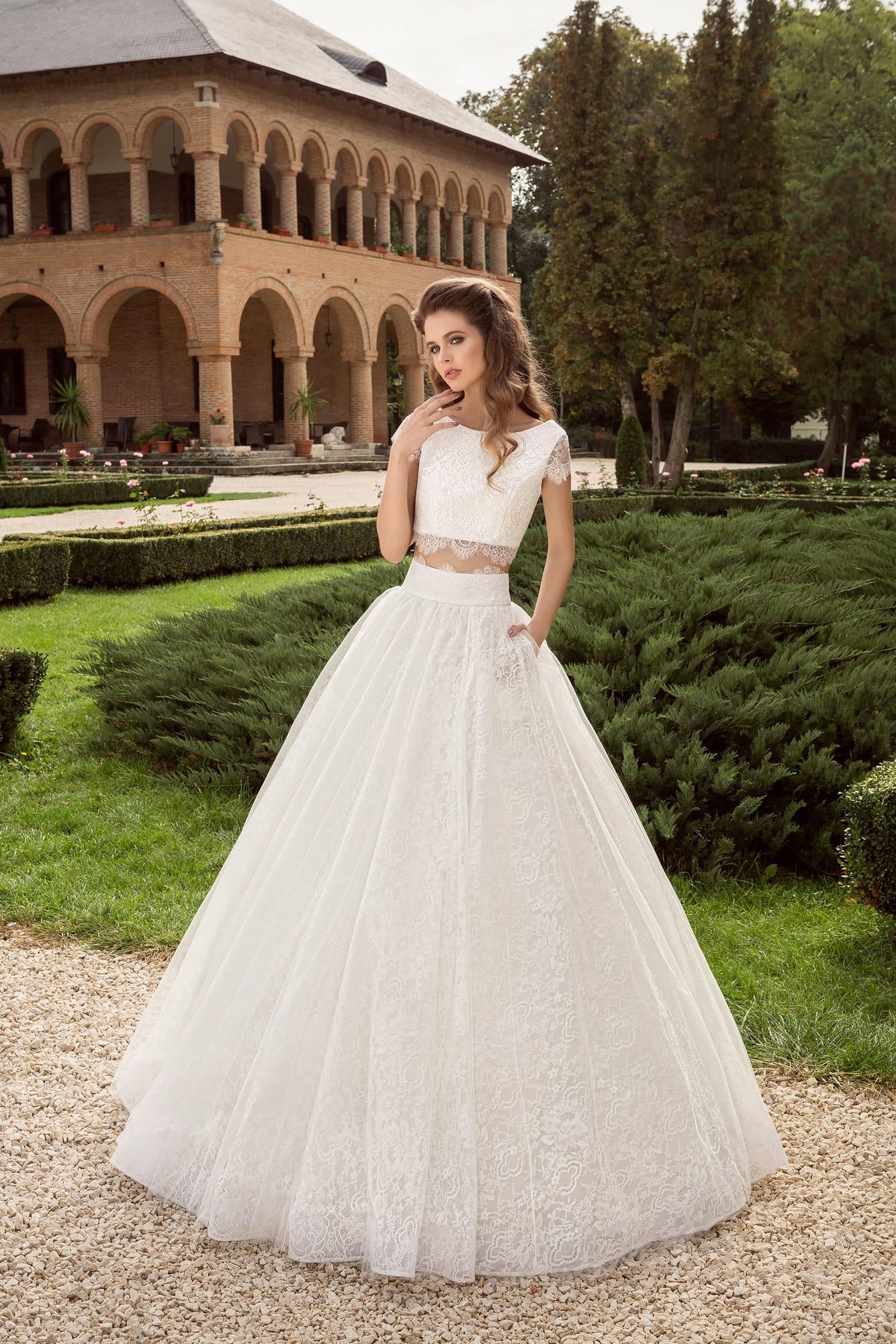 Crop top - свадебное платье 2017