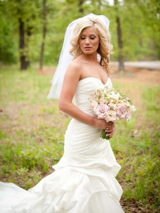 Форма свадебного букета и фигура невесты