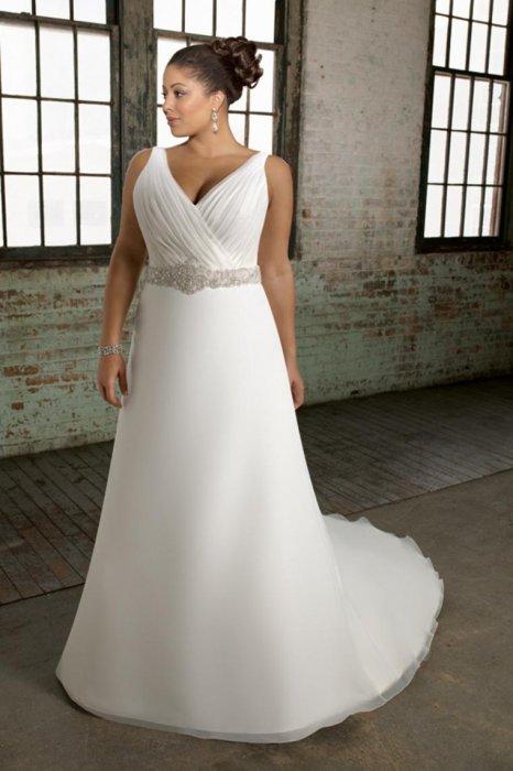 Свадебное платье для фигуры Яблоко