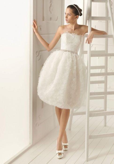 Свадебное платье простое короткое фото