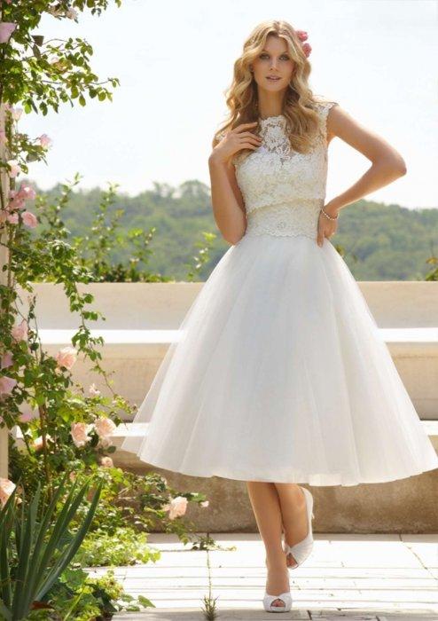 d832af62372 Короткое свадебное платье  делаем правильный выбор!