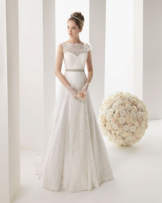 Свадебное платье с А-силуэтом