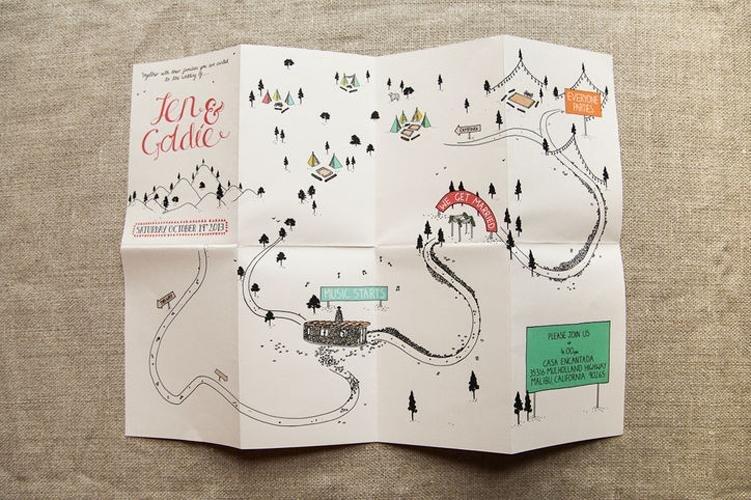 Открытка в виде карты, про малышей надписями